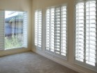 White plantation style wood Shutters for luxury Interior Design