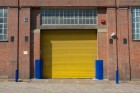 bright yellow roller shutters