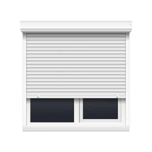 a picture of a window aluminium shutters