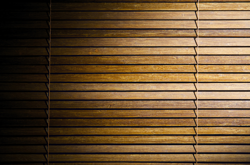 a picture of a good set of Timber Venetian Blinds