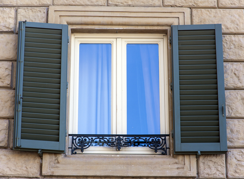 Image of a good set of quality Outdoor Window Shutters