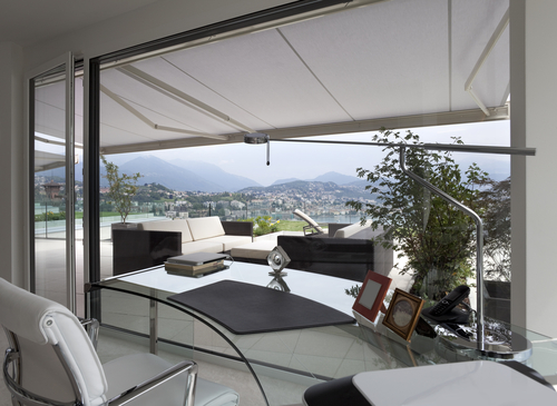 Retractable Awnings in a modern home