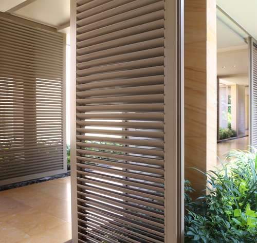 an image of classic outdoor window shutters by Shutters Australia