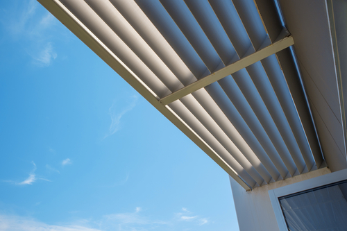 Image of a commercial metal awnings by Shutters Australia