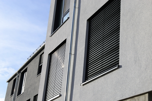 Vertical outdoor shutter, Image by Shutters Australia