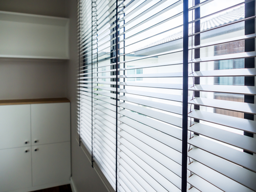 Image a white venetian blinds by Shutters Australia