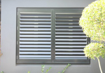 image of an aluminium window shutters