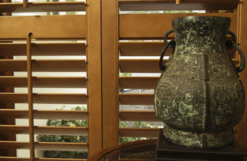 Image of a wooden plantation shutters in Sydney