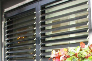 image of an aluminium plantation shutters