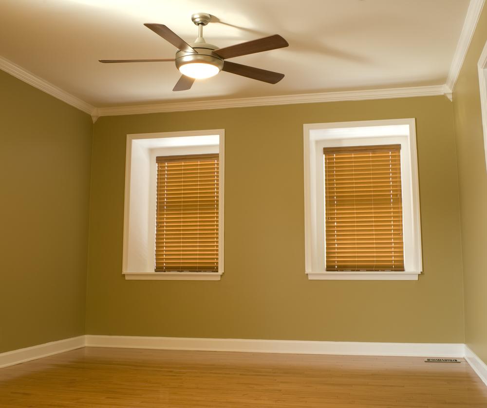 Empty room with dormer windows