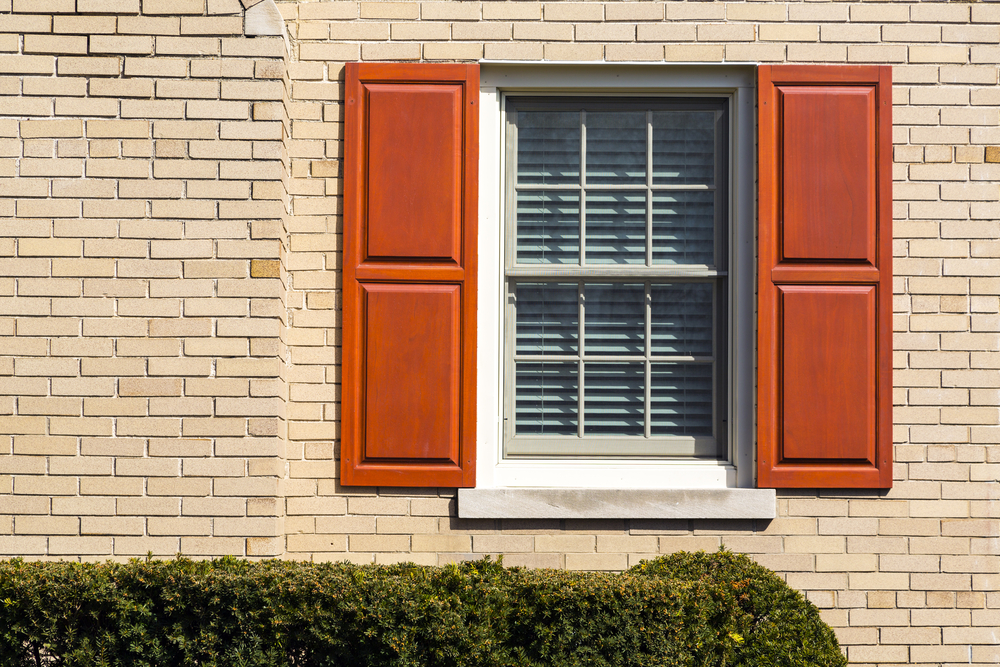 Traditional window with shutter