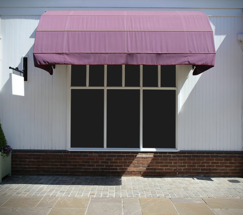 a set of beautiful canvas awnings
