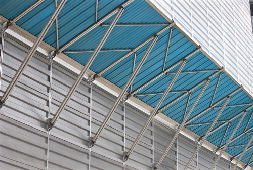 Steel Awnings over a popular commercial establishment