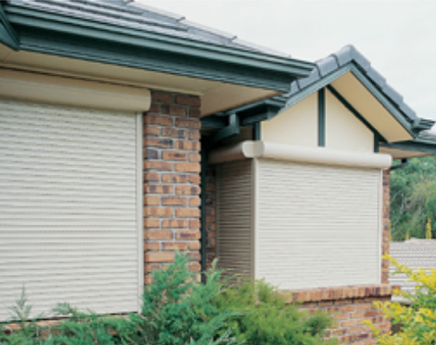 Image of an outdoor roller shutter
