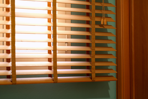 Image of a timber venetian blinds