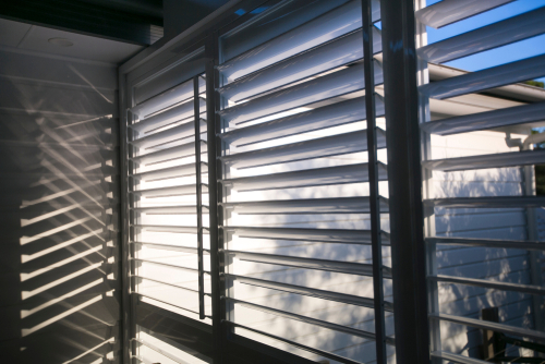 Image of an Outdoor Aluminium Plantation Shutters