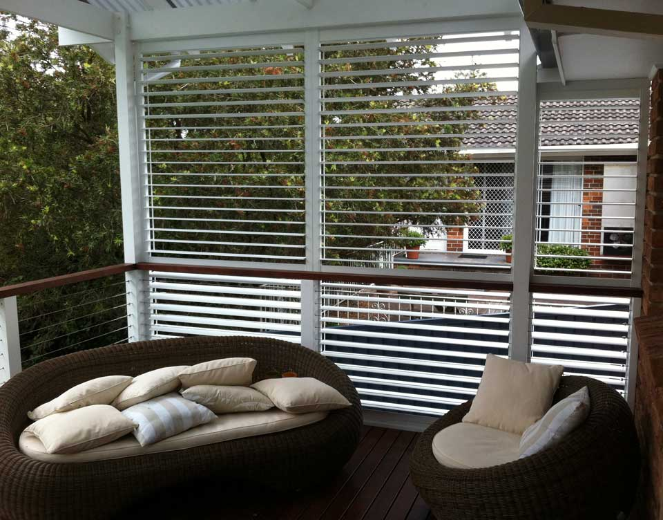 Image of an exterior Plantation Shutters for your Sydney Home
